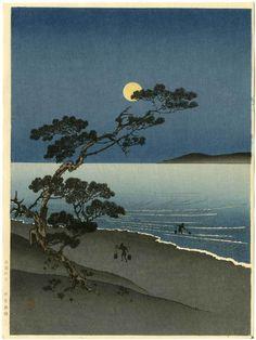 Arai Yoshimune Japanese Woodblock Print Suma Beach | eBay
