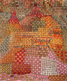 Paul Klee -- rug hooking or quilt inspiration Wassily Kandinsky, Abstract Expressionism, Abstract Art, Abstract Paintings, Oil Paintings, Landscape Paintings, Paul Klee Art, Ernst Ludwig Kirchner, Art Graphique