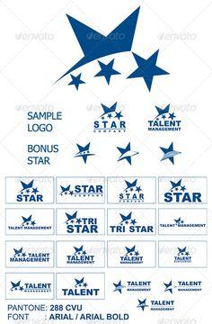 Star Logo: Symbol Logo Design Template created by GlobalLab. Logo Design Template, Logo Templates, Stylish Letters, Typographie Logo, Hotel Logo, Logo Branding, Logo Ad, Print Fonts, Beer