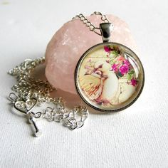 Lovebirds Necklace Vintage Style Necklace by Bluebirdsanddaisies