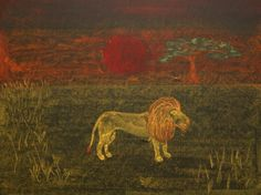 Waldorf ~ 4th grade ~ Human & Animal ~ Lion ~ chalkboard drawing