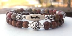 Breathe Bracelet Stacked Bracelet Intention by BlueStoneRiver, $29.50