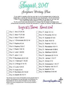 Scripture Writing Pl