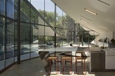 Underground Eco House Split into Living and Sleeping Halfs   Modern House Designs