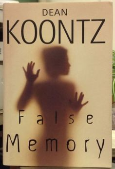 False Memory by Dean Koontz SIGNED Hardcover Horror Autographed