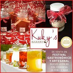 Kuky's Bakery tiene para ti deliciosas #galletas, #mermeladas y mas que podrás encontrar en el Festival Gastronomico y Artesanal este 28 de febrero y 1 de marzo en Nuevo León 80 Col Condesa.
