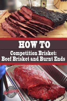 Competition Brisket Recipe: Beef Brisket and Burnt Ends BBQ & Smoker Project Idea & Tips Beef Brisket Recipes, Bbq Brisket, Smoked Beef Brisket, Traeger Recipes, Smoked Meat Recipes, Grilling Recipes, Smoked Ribs, Bbq Ribs, Barbecue