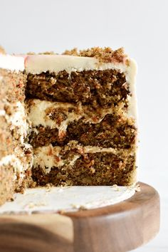 Carrot Cake with Cream Cheese Frosting — A Common Kitchen Round Cake Pans, Round Cakes, Cake With Cream Cheese, Cream Cheese Frosting, Flat Cakes, Cake Platter, Types Of Cakes, Cake Board, Take The Cake
