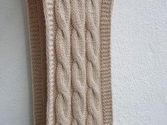Strickschals - XXL-ZOPF Schlauchschal Tube100% Wolle nude - ein Designerstück von flowerchildflowerchild bei DaWanda