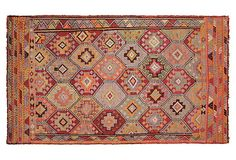 Anatolian Turkish Kilim, 94 x 55 on OneKingsLane.com