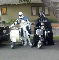 you may be cool. but you' ll never be darth vader and rex on a scooter cool