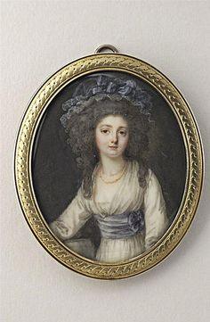 Miniature of MLM Dulieu de Chenevaux, 1784 by P Charpentier (active 1750-1800) (Musee du Louvre)