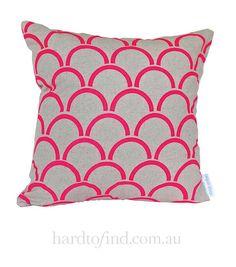 Pink Arches Cushion Cover,  Aqua Door Designs $48