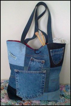 Recycled denim tote                                                                                                                                                                                 More