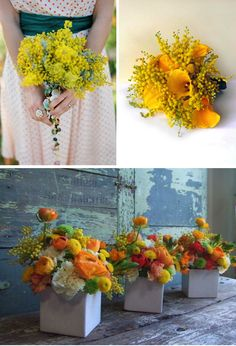 Acacia Bouquets- Australian National Flower  » Alexan Events | Denver Wedding Planners, Colorado Wedding and Event Planning
