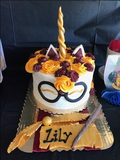 Harry Potter unicorn cake from Kimmycakesccd kimmycakesccd