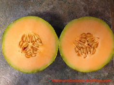 Grow Cantaloupe Vertically And Get A Lot of Tasty Fruit From A Small Footprint – The Fervent Gardener Planting Cantaloupe, Growing Cantaloupe, Footprint, Vines, Tasty, Backyard, Plants, Garden Ideas, Gardening