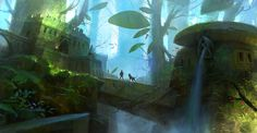 ArtStation - Temple in the forest, Lee b