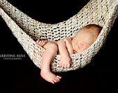 Crochet Newborn Hammock - Photography Prop