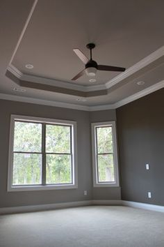 Master Bedroom Tray Ceiling we installed our barn wood skins on this dining room tray