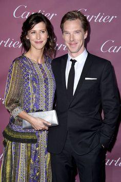 Pin for Later: Schluss mit den ruhigen Festtagen! Die Stars feiern beim Palm Springs Film Festival Sophie Hunter und Benedict Cumberbatch