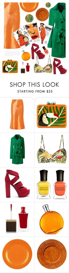 """""""Wild King-dom"""" by felicitysparks ❤ liked on Polyvore featuring TIBI, Aranáz, Lands' End, Miguelina, Deborah Lippmann, Tom Ford, Hermès, Waechtersbach and plus size clothing"""