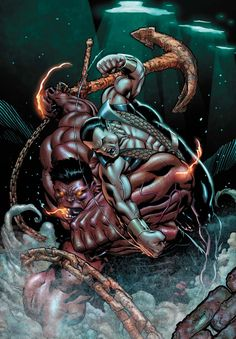 SCORCHED EARTH PART 3 Red Hulk goes into deeply unfamiliar territory to stop the next contingency, and the best ally for the mission is Namor, King of Atlantis! Comic Book Artists, Comic Book Characters, Marvel Characters, Comic Character, Comic Books Art, Comic Art, Marvel Dc, Spiderman, Batman