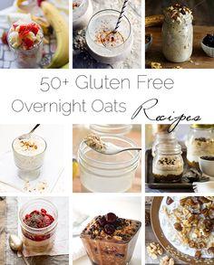 50+ Healthy, Gluten Free Overnight Oats Recipes - Wake up to a delicious, healthy breakfast already ready for you...all month long! | Foodfaithfitness.com | @FoodFaithFit