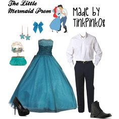 """The Little Mermaid Prom"" by tinkpink08 on Polyvore"