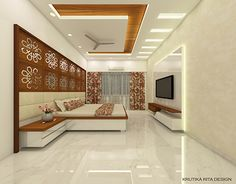 Master Bedroom Design: 3 on Behance Simple False Ceiling Design, House Ceiling Design, Ceiling Design Living Room, Bedroom False Ceiling Design, False Ceiling For Hall, Bedroom Pop Design, Bedroom Furniture Design, Bedroom Designs, Window Furniture