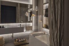 Una sala de baño diseñada por las arquitectas Melisa Herc y Carolina Feller que prioriza la funcionalidad dentro de una atmósfera cálida y placentera
