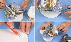 Come realizzare palline decorate di Natale - Bricoportale: Fai da te e bricolage Decoupage, Google, Bricolage