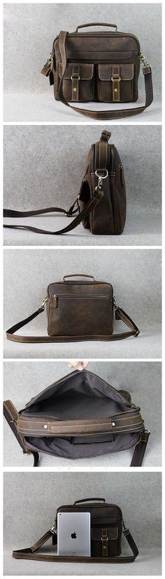 46c04adc135b Leather Briefcase Messenger Bag Laptop Bag For Men
