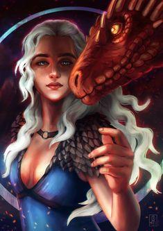 Mutter der Drachen von RocioRodriguez - of Thrones Game Of Thrones Gifts, Game Of Thrones Art, Wacom Intuos, Game Of Thones, Gaming Tattoo, Got Memes, Khaleesi, Daenerys Targaryen Art, T Art