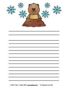 Groundhogs Day Writing Paper (Landscape & Portrait) from Chalkspot.com on TeachersNotebook.com -  (16 pages)  - Groundhog Primary and Regular Lined Writing Paper just in time for your writing projects! #teachersnotebook #writing