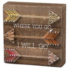 Where You Go I Will Go String Art Sign