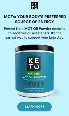 Perfect Keto MCT Oil Powder contains pure MCTs to support mental clarity and metabolic function. It is the only MCT oil that uses acacia fiber and has ZERO fake ingredients. Why does this matter? Acacia fiber is a probiotic that promotes gut and cellular Keto Diet Plan, Ketogenic Diet, Reto Fitness, Ketosis Supplements, Natural Dry Shampoo, Clean And Delicious, Speed Up Metabolism, Baking Soda Shampoo, Mct Oil