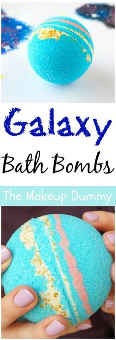 How To make Intergalactic Galaxy Bath Bomb Fizzies inspired by LUSH - it's easy, cheap and fun to make yourself! Tutorial by The Makeup Dummy