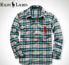 Ralph Lauren /Plaid Polo /Big Pony