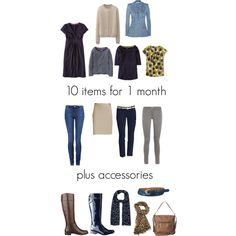 """""""10 items for 1 month"""" by lillyicity on Polyvore"""