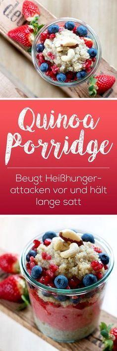 Schnelles Quinoa Porridge Rezept. Vegan, lecker und gesund. Mit knapp 105 Kalorien auf 100 Gramm gekochte Quinoa, ist es eine Speise die auch ideal für Figurbewusste geeignet ist. #porridge #frühstück #breakfast #healthy #oatmeal
