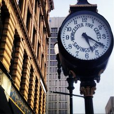 Thanks to generous contributions by The Fuller Foundation and Douglas Butler the street clock located on Front St here in Worcester,MA still stands tall and in great shape! Worcester Massachusetts, Still Standing, Stand Tall, Commonwealth, Butler, Clocks, Foundation, Road Trip, Shape