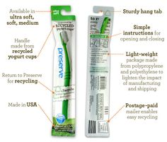 Preserve Toothbrush (handle made from recycled yogurt cups)