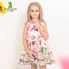 >> Click to Buy << KAMIWA 2017 Fashion Butterfly Pattern Mesh Printed Teenage Girls Dresses Summer Style Children Clothing Beach Baby Kids Clothes #Affiliate