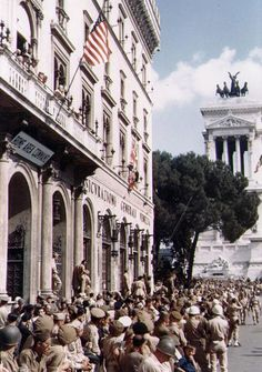 Old Glory in Rome!! Liberation of Rome in WWII. HAPPY FLAG DAY!
