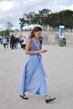 Shades of blue at Elie Saab, Paris (Trendycrew) Paris Street, Elie Saab, Shades Of Blue, The Ordinary, Fashion Photo, Latest Fashion Trends, Blue Dresses, Street Style, Style Inspiration