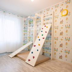 Indoor climbing wall play structure for playroom. Gymnastics Room, Kids Indoor Playground, Cool Kids Rooms, Gym Room, Fashion Room, Kid Spaces, Play Houses, Kids And Parenting, Kids Bedroom