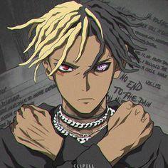 xxxtentacion - anime two Dope Cartoons, Dope Cartoon Art, Black Cartoon, Rap Wallpaper, Cartoon Wallpaper, Bape Art, Mercedes Benz Autos, Anime Rapper, Character Design