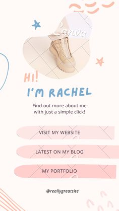 Geweldig ontwerp van een Bio Link Website, in Canva gemaakt door Joyce van Zadelhoff . Sparkle, Website, Link