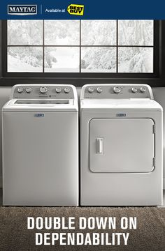 If you're looking for a powerful washer, be sure to pair it with a powerful dryer.